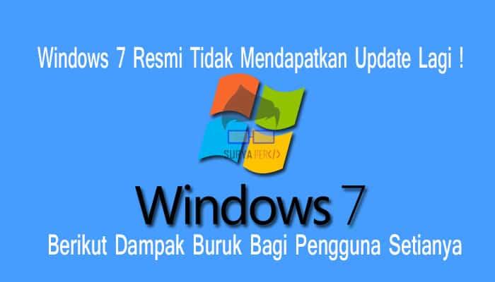 windows 7 di matikan microsoft