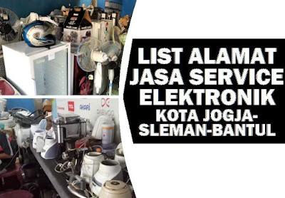 tempat servis kulkas, mesin cuci, kipas, tv, AC dll di Jogja