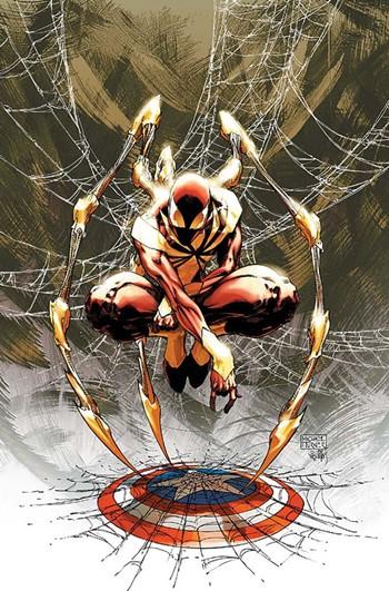 Spiderman con el traje/armadura de Civil War (Iron Spider)