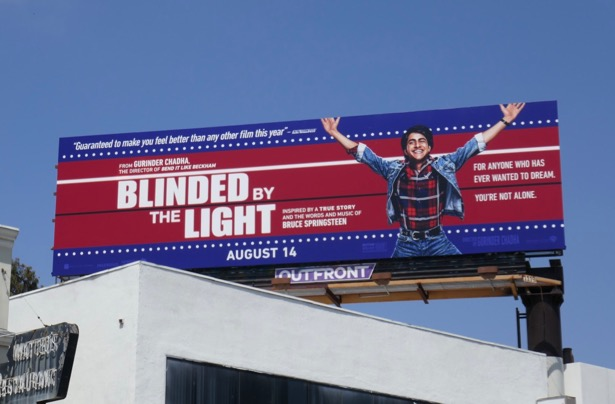 Blinded by the Light movie billboard
