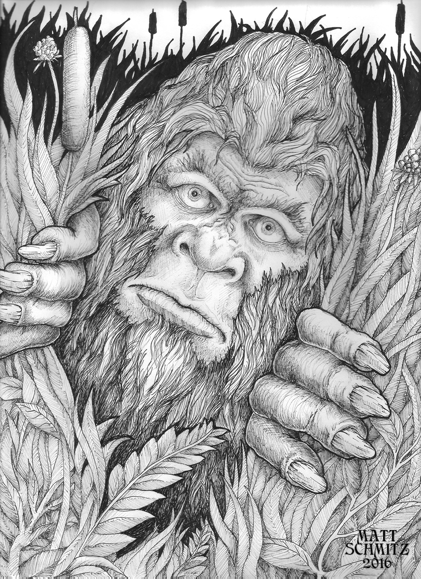 My latest drawing is......BIGFOOT