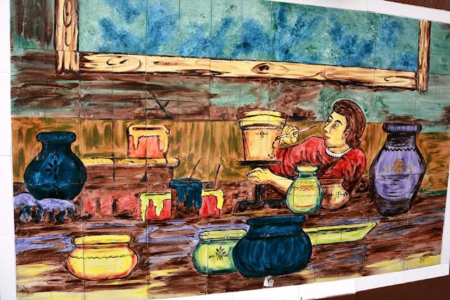 Market Artisanal La Mariscal Quito painting