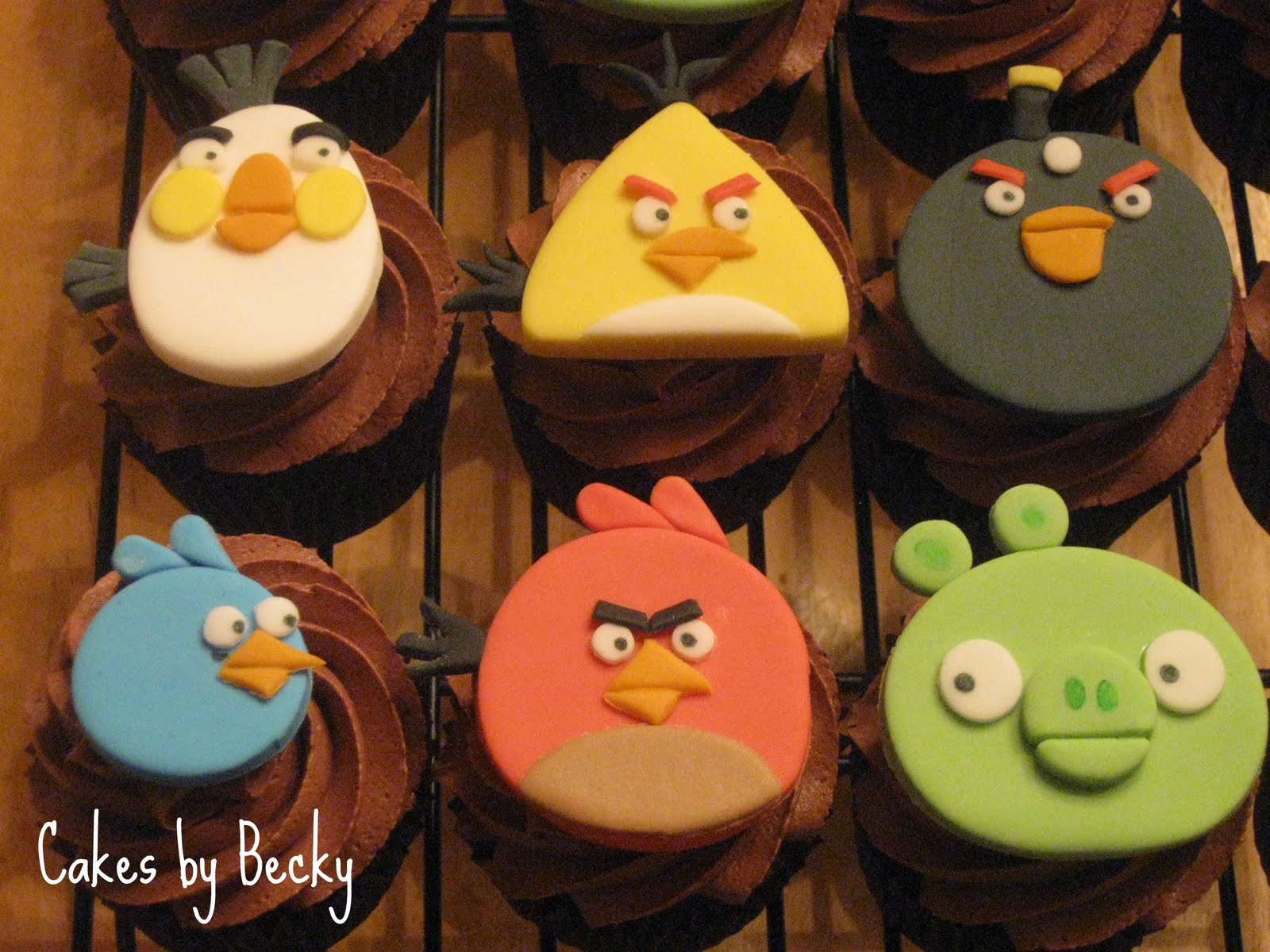 Cakes By Becky Angry Birds Cupcakes