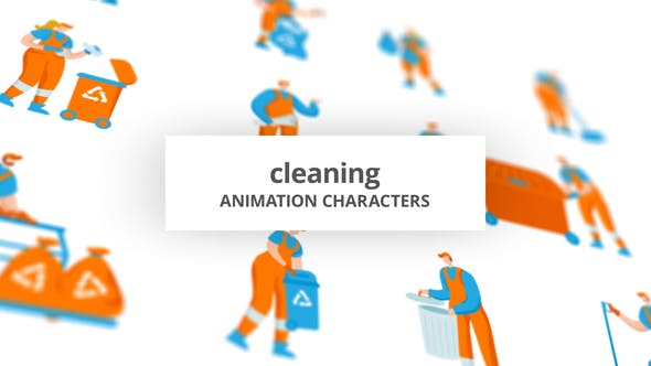 Cleaning – Character Set[Videohive][After Effects][29102439]