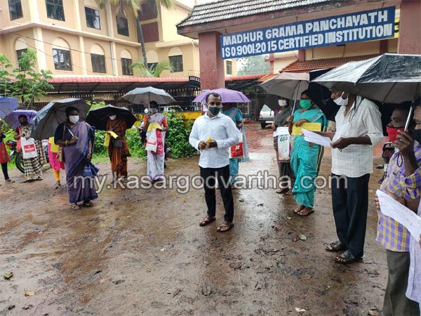 Kerala, News,  Protest against Madhur panchayat board
