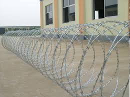 Concertina wire road block