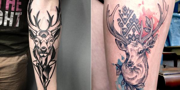 deer tattoo designs. Black Bedroom Furniture Sets. Home Design Ideas