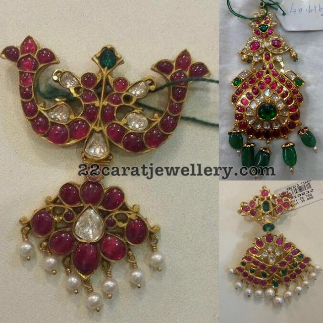 40gms Attractive Kundan Ruby Pendants