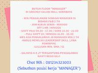 lowongan kerja floor manager galaxi mall surabaya