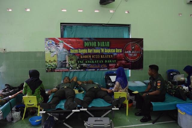 Peringati Hari Juang TNI AD, Kodim Klaten Gelar Donor Darah