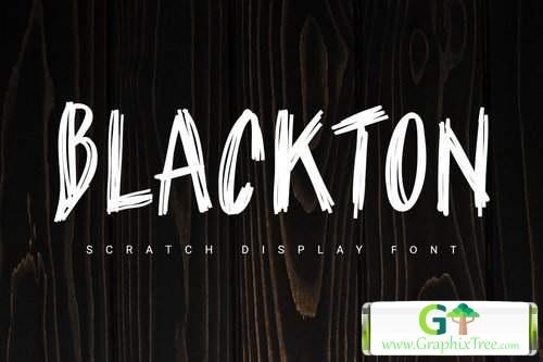 Blackton scratch [font]