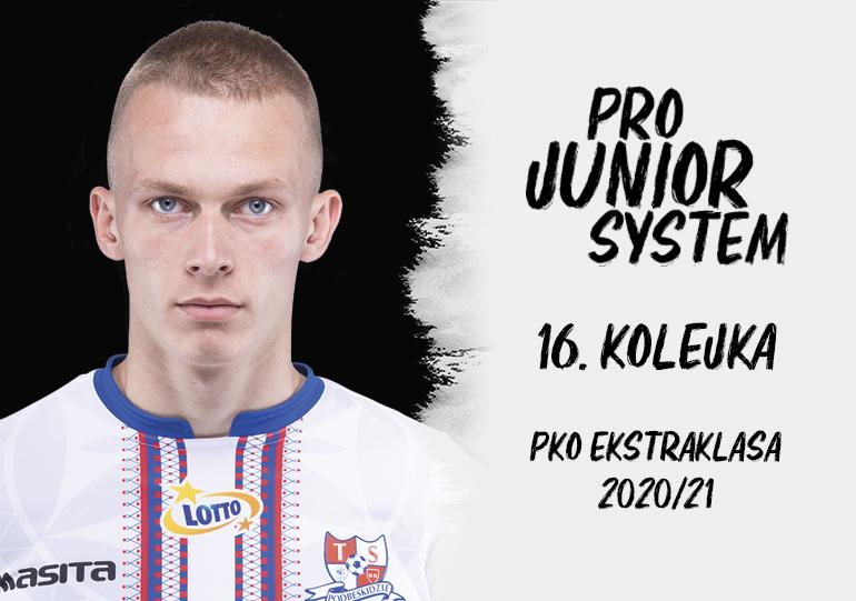 Dominik Frelek<br><br>fot. Jakub Ziemianin / Podbeskidzie Bielsko-Biała / tspodbeskidzie.pl<br><br>graf. Bartosz Urban