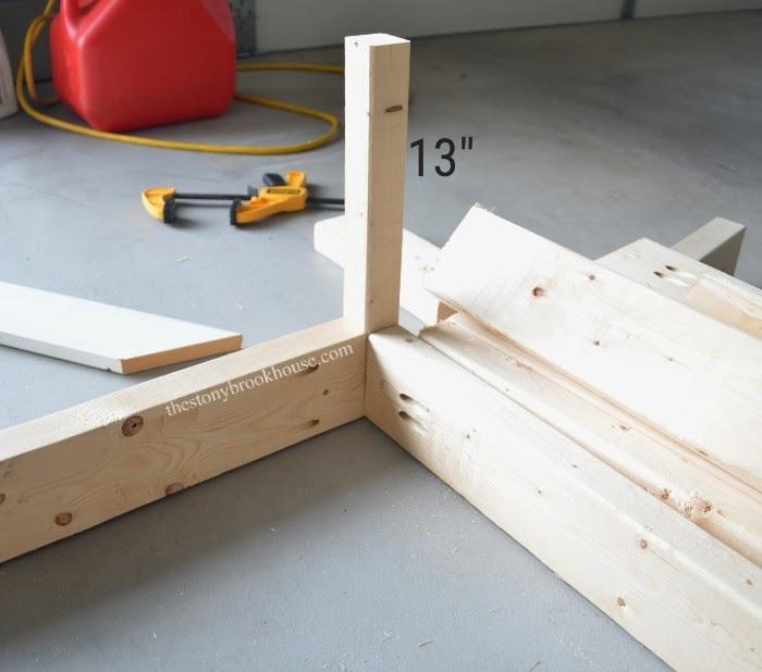 Measurements of leg for bed frame