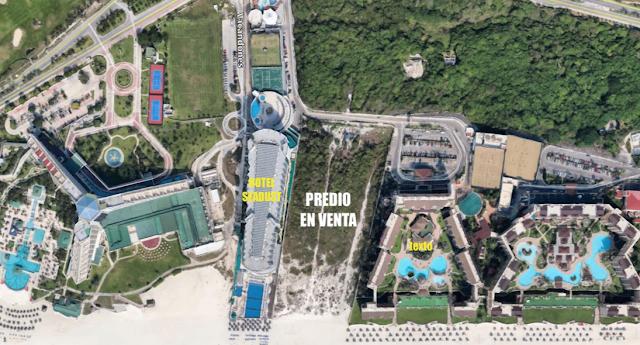 En venta unico terreno hotelero  con uso de suelo en Cancun Mexico.