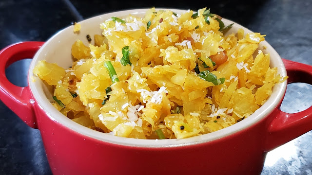 Instant Pot Dry Cabbage Curry