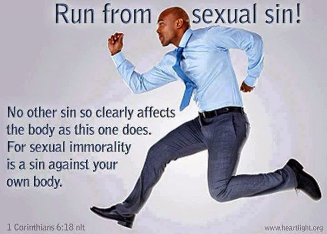 runing away from sexual sin