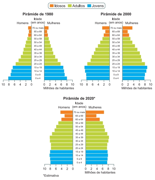 Pirâmides etárias do Brasil