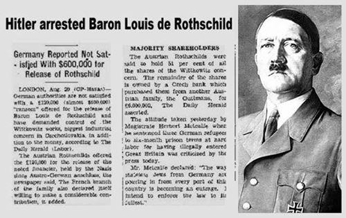 Ο Χίτλερ όταν ήταν στην εξουσία είχε συλλάβει τον βαρόνο Louis de Rothschild !!!