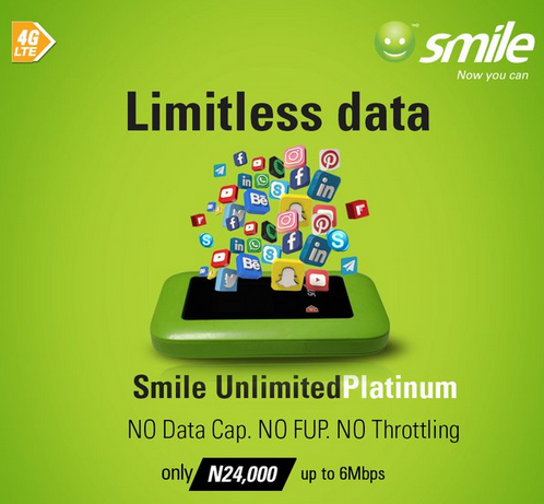 Smile Launches UnlimitedPlatinum – No throttling, No data cap, just keep downloading