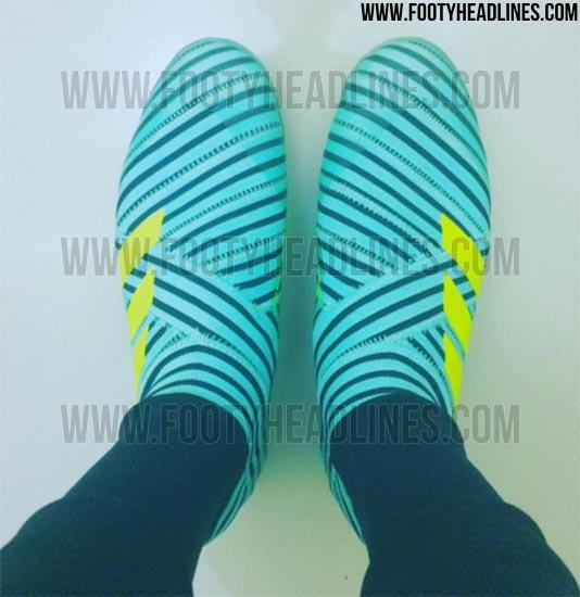 Fuite des chaussures sans lacets Adidas Nemeziz 17+