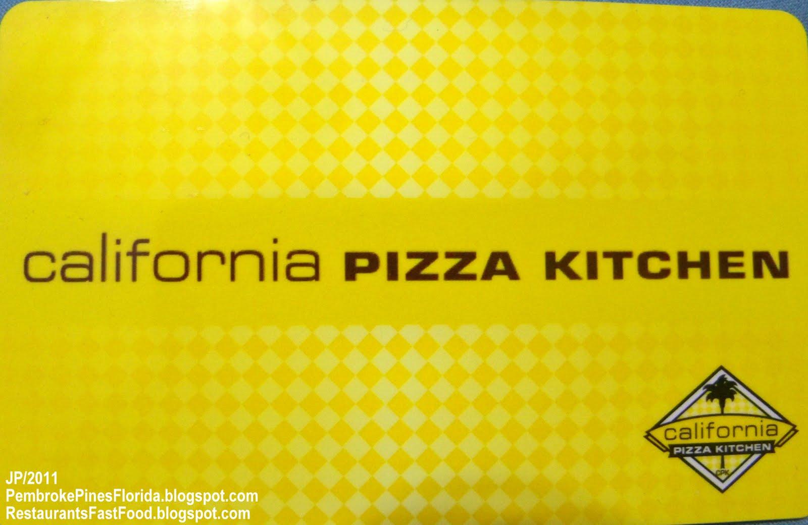 California Pizza Kitchen Florida