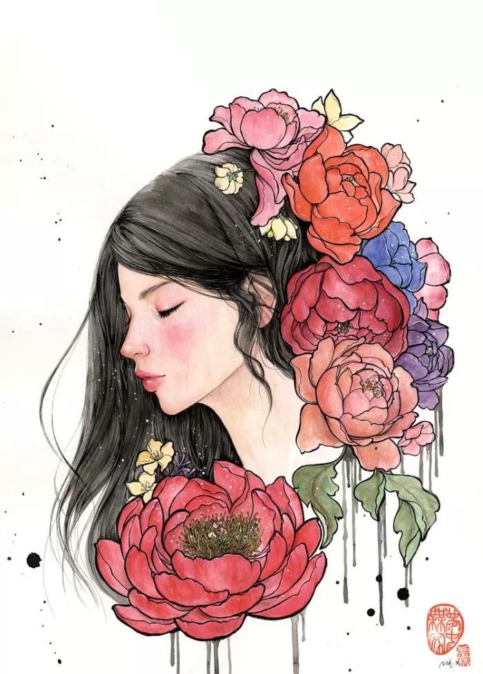 Корейский художник и иллюстратор. Stella Im