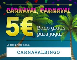 5 euros gratis por carnaval todoslots 12-14 febrero 2021