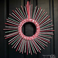 Make Your Own Paper Straw Christmas Wreath
