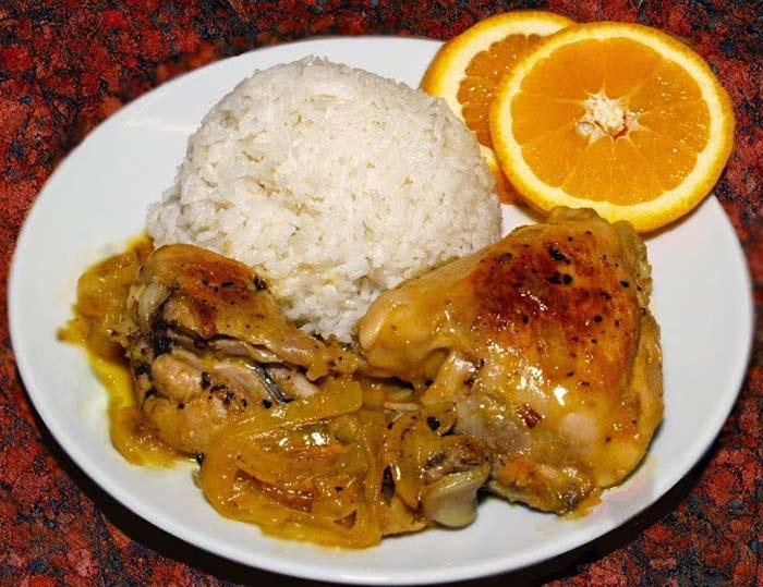 Recetas Caseras De Cocina Pollo A La Naranja Con Arroz Basmati