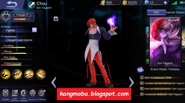 Script Skin Chou KOF Full Effect Mobile Legends Patch Terbaru