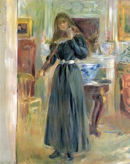 Berthe Morisot - Retrato de Julia Manet al violín - 1893