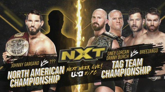 Duas grandes lutas por título são anunciadas para o próximo WWE NXT