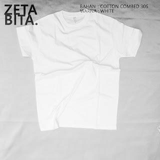 Kaos Polos Putih - Zetabita