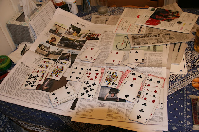 solitaire on table