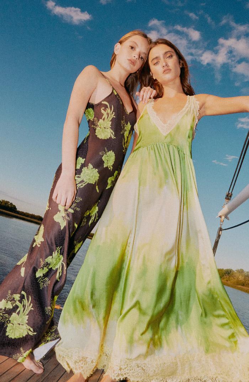 Moda vestidos largos verano 2020. Ropa de moda mujer primavera verano 2020. Vestidos largos de moda 2020.