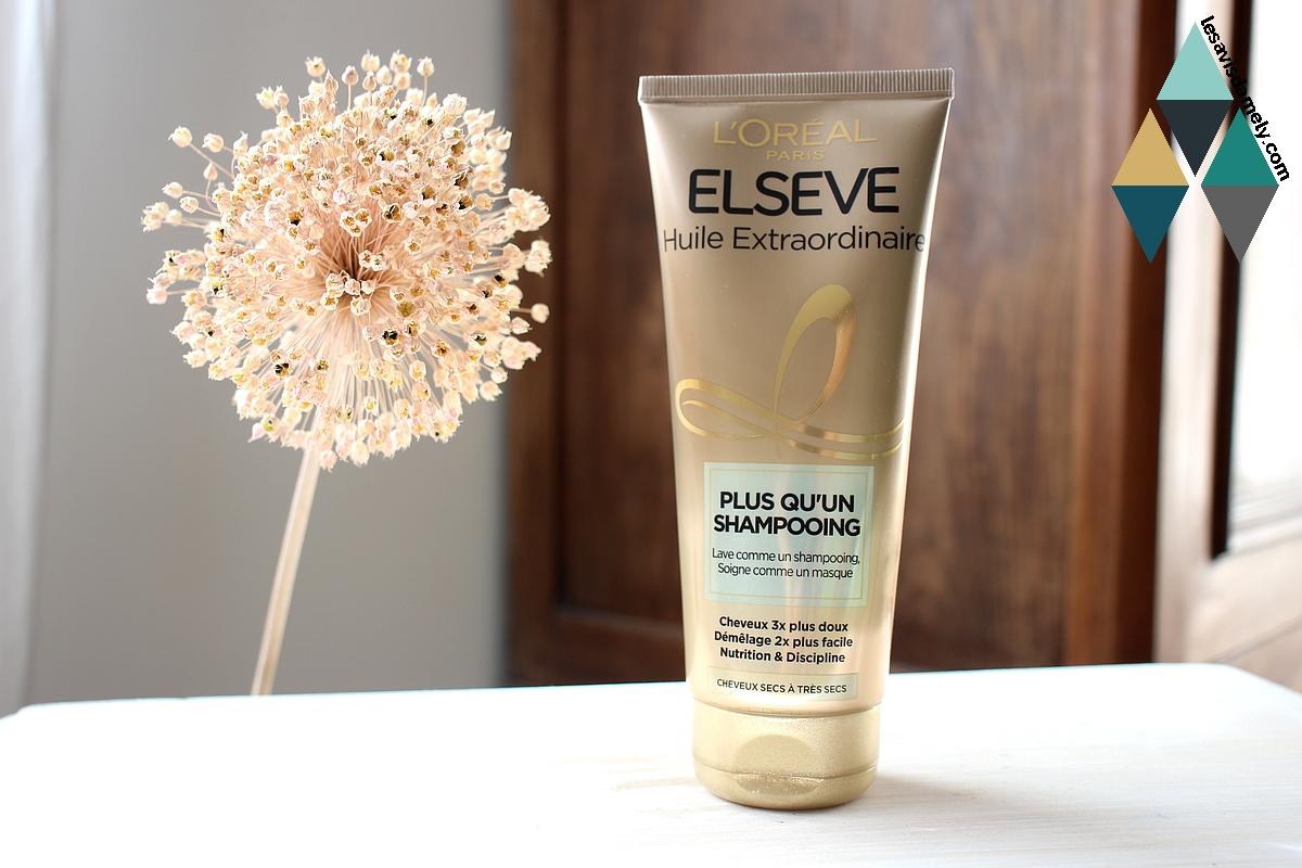 avis plus qu'un shampooing elsève routine cheveux