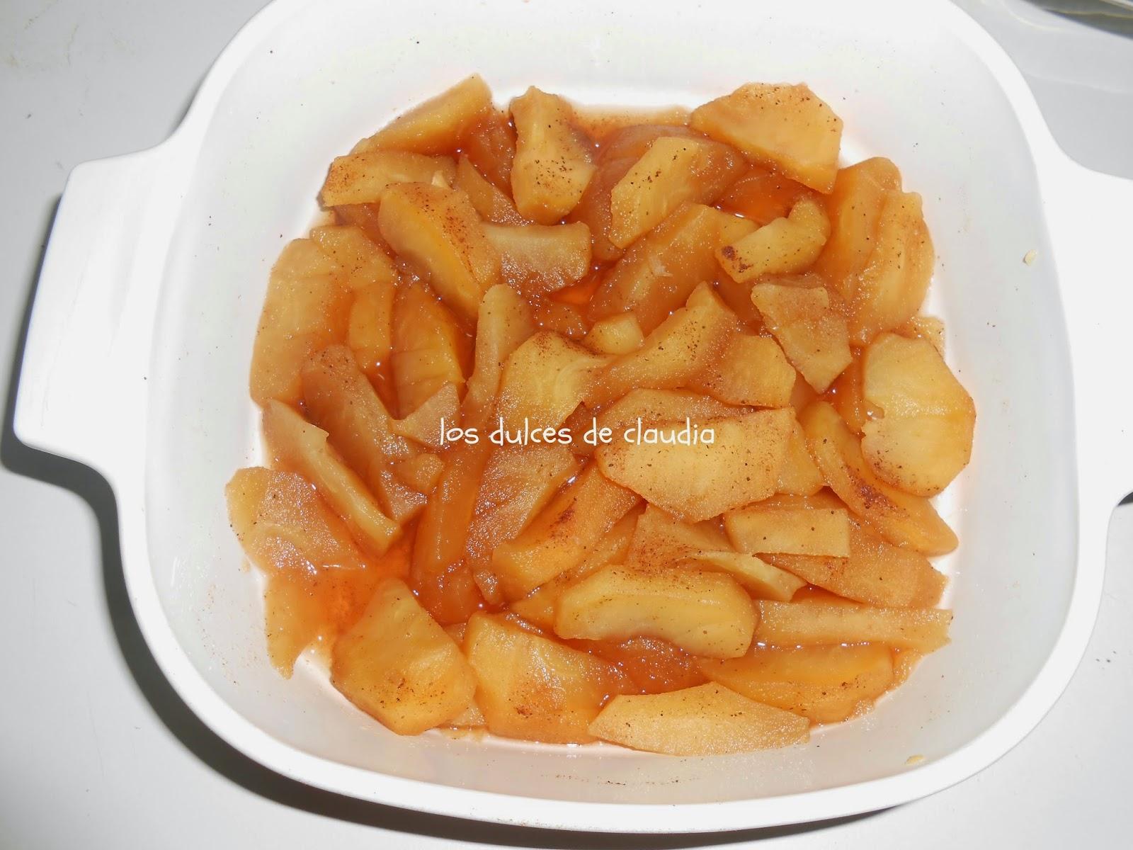crujiente de manzana