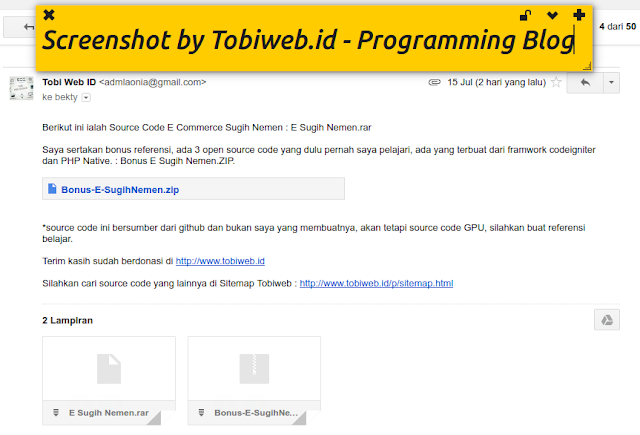 Source Code E-Commerce Sugih Nemen Dengan PHP