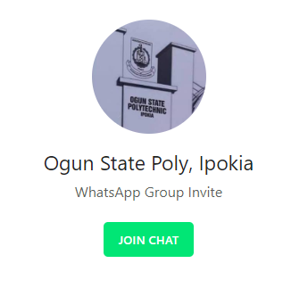 Ogun Poly WhatsApp Group Chat