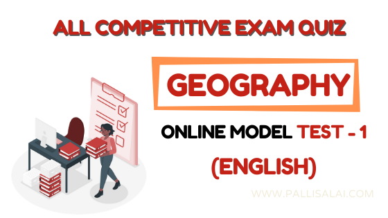 Geography Online Mock Test 1 (English)