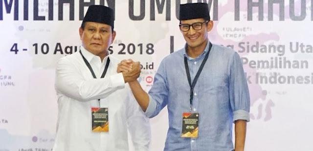 Prabowo-Sandi Cuma Enakin Gerindra Sih, Jangan Salahkan yang Lain