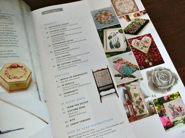 журнал Inspirations, вышивка гладью схемы, гладь, декоративные швы, книги по вышивке