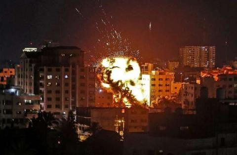 Israel attacked rocket at Saria's airbase late at night