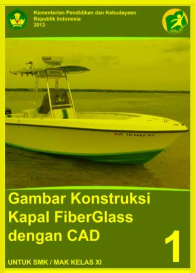 Gambar Konstruksi Kapal Fiberglass dengan CAD SMK Kelas 11