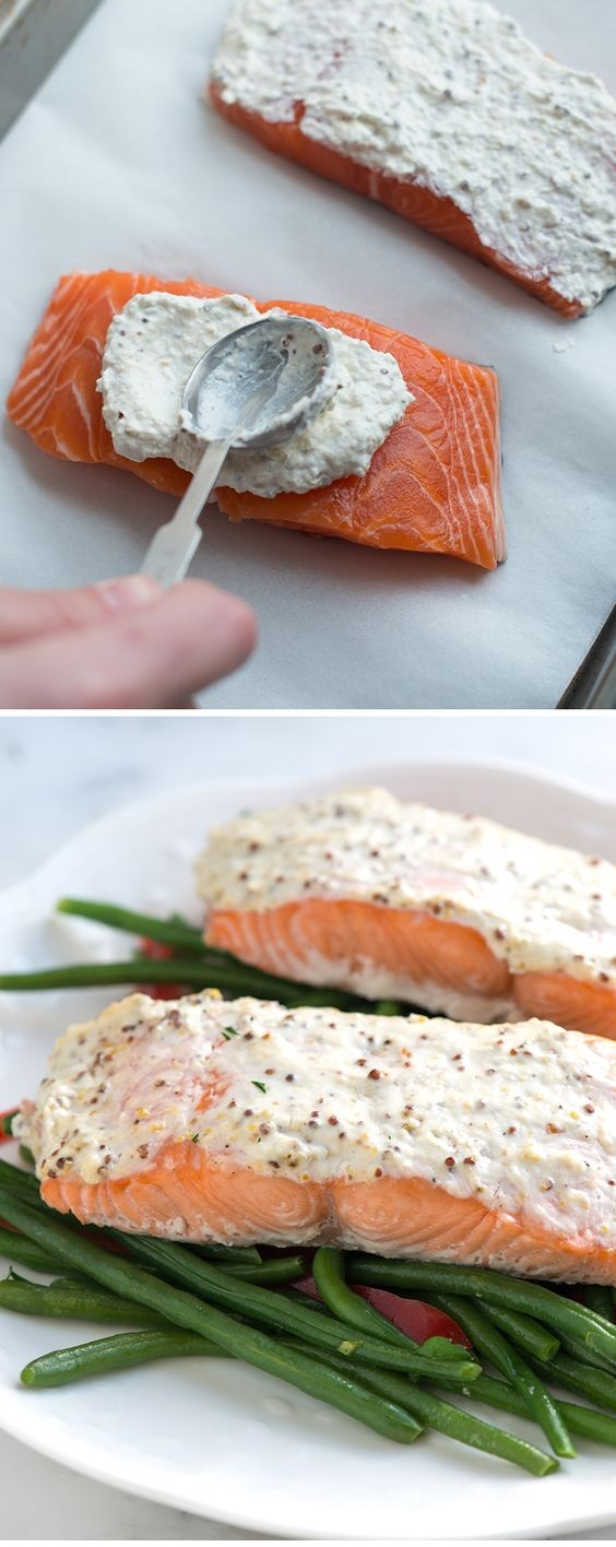 Easy Sour Cream Baked Salmon Recipe