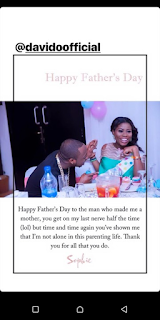 First Baby Mama, Sophia Momodu, Hails Davido On Father's Day