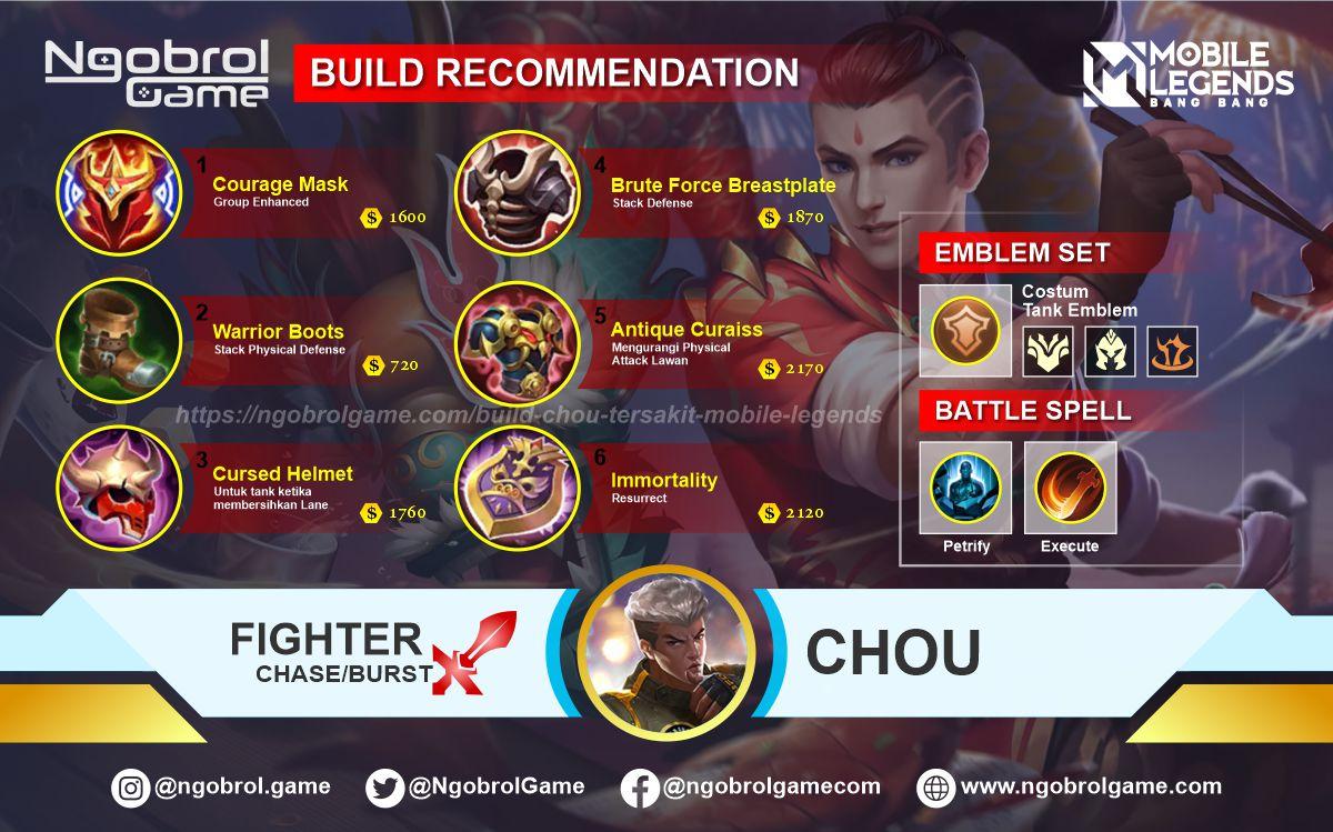 Build Chou  Savage Mobile Legends