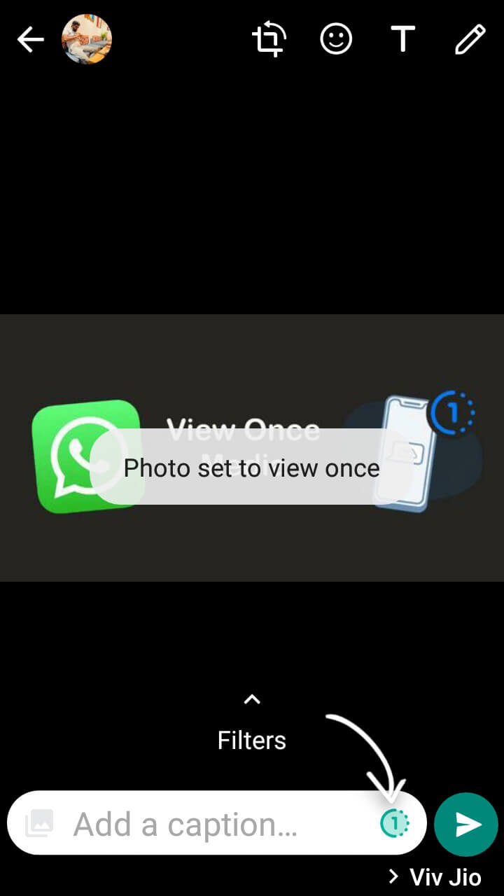 Send view once media on Android WhatsApp