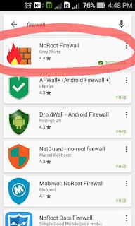 Hemat kuota paket data dengan No-Root Firewall untuk Android