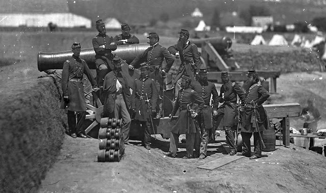 Officers of the 69th Infantry New York, at Fort Corcoran, Virginia, with Col. Michael Corcoran.